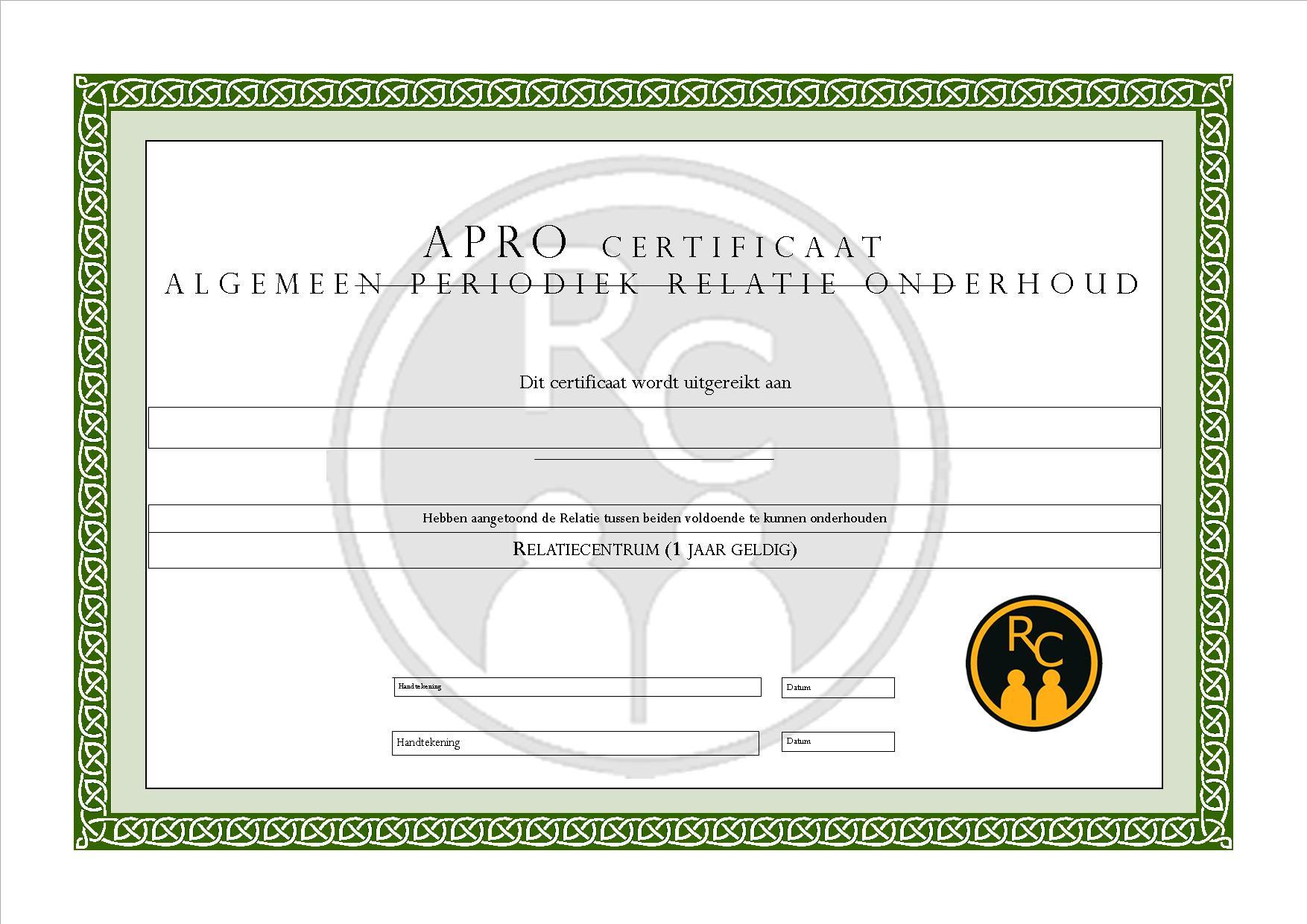 APRO-certificaat